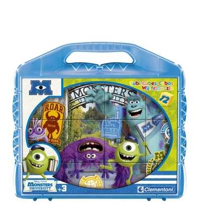 puzzle Cubos 12 Monsters university