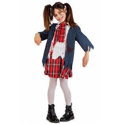 Disfraz Colegiala Zombie infantil Halloween