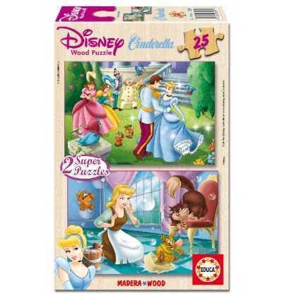 Puzzle 25   Cenicienta      Madera  princesas