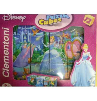 Puzzle Cubos   Cenicienta  Princesas