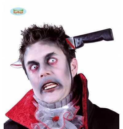 Cuchillo diadema cabeza halloween