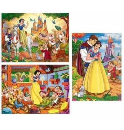 Puzzles 9-12-18 pzas. Blancanieves Princesas