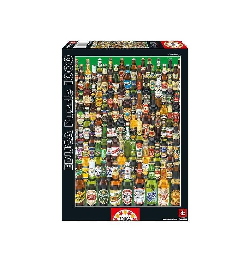 Comprar Puzzle 1000 piezas botellas de Cervezas