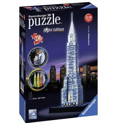 Puzzle 3d edificio Chrysler  Night edition