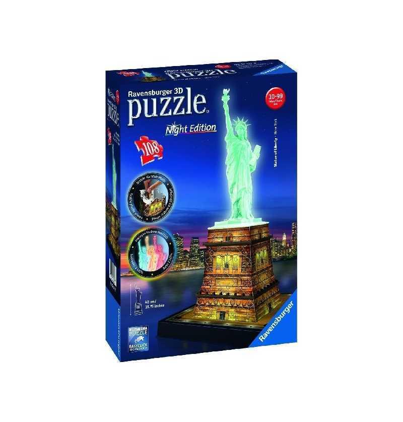 Puzzle 3d Estatua Libertad  edición Noche