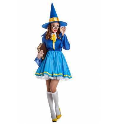 Disfraz Aprendiz Maga Azul Halloween
