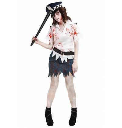 Disfraz Mujer Policia Zombie Halloween