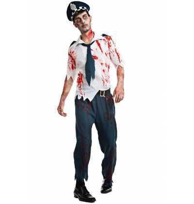 Disfraz Hombre Policia Zombie Halloween