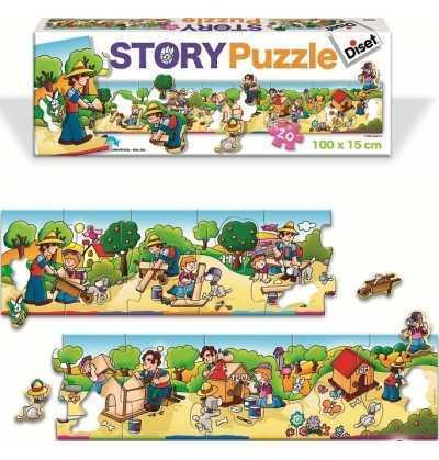 Puzzle Historia Casita Perro