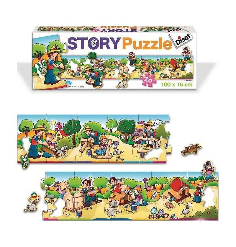Puzzle Historia Casita Perro  Diset