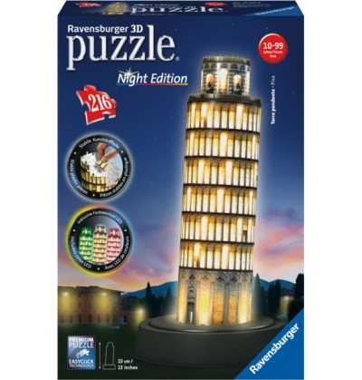 Puzzle 3D Torre de Pisa Luz Night Edition