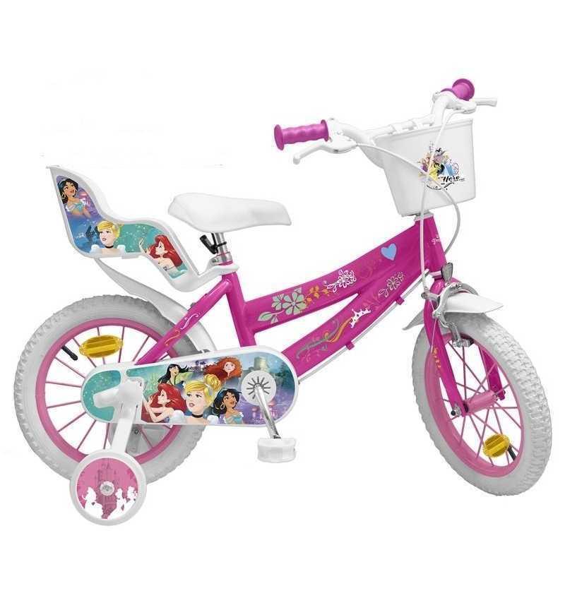 Comprar Bicicleta Infantil Princesas Disney 14 pulgadas toimsa con ruedines