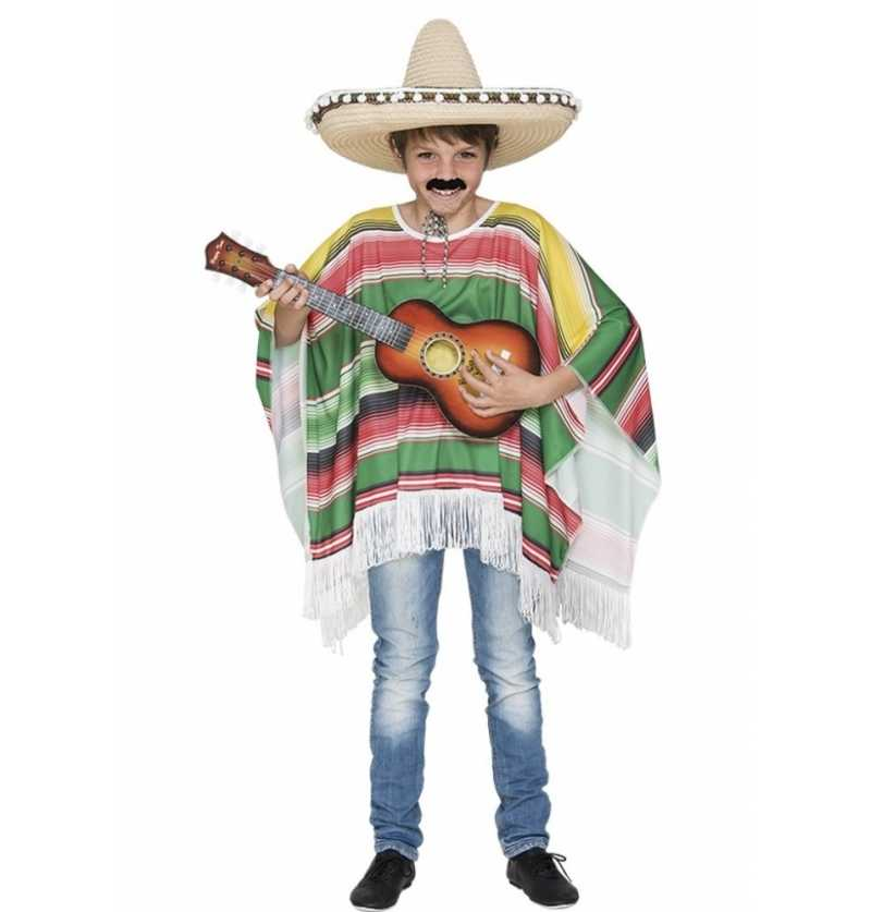 Disfraz Poncho Mejicano Infantil