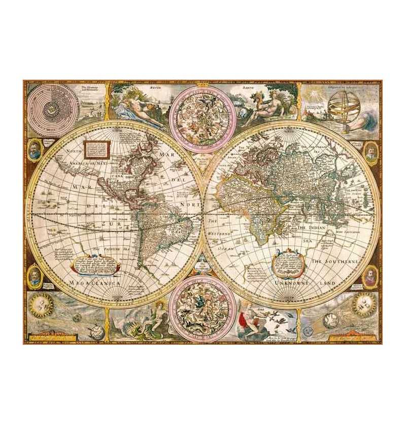 Puzzle 3000 Mapa Antiguo