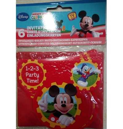 Invitaciones de fiesta  Mickey