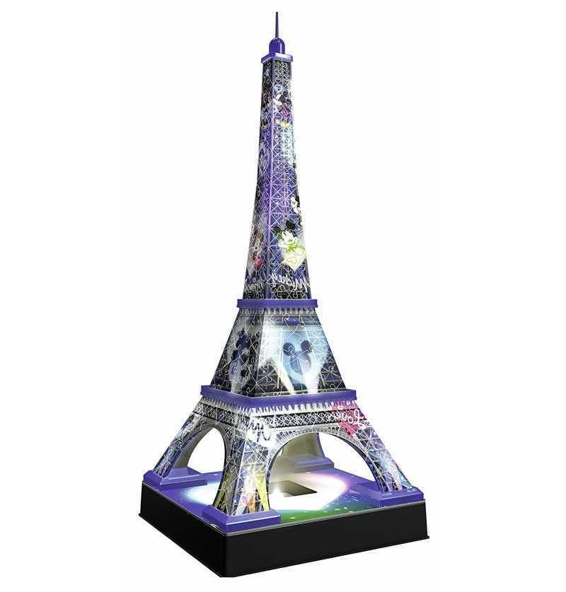 Puzzle 3D Torre Eiffel Disney Night Ed.