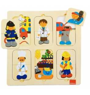 Puzzle Profesiones Madera goula
