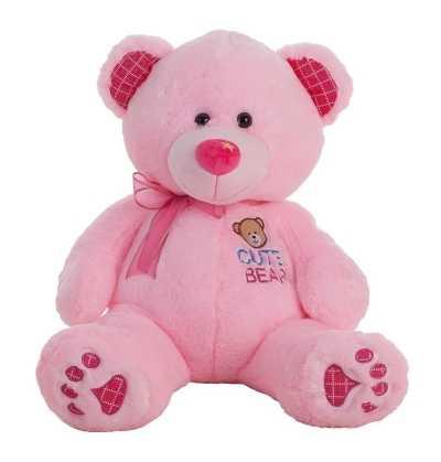 Oso Peluche Rosa con Luz 60 cm.