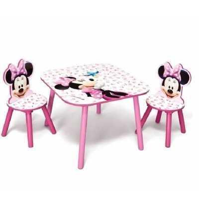 Minnie  Mesa y Sillas de Madera  Disney