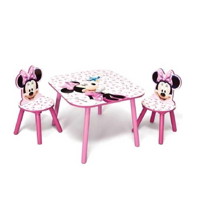 Minnie Comprar Mesa y Sillas de Madera Disney