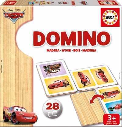 Domino Cars 28 Piezas Madera