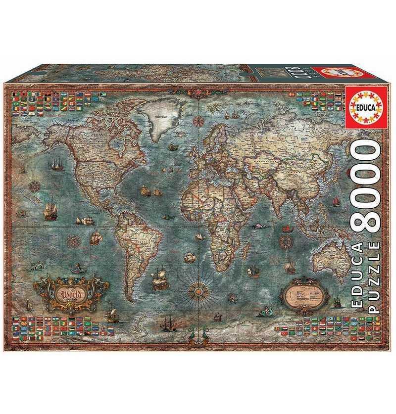 Puzzle 8000 piezas  Mapamundi Historico