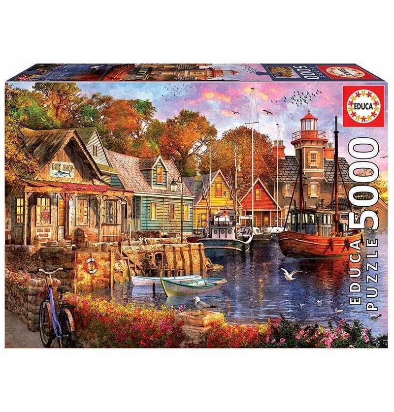 Comprar Puzzle 5000 piezas Atardecer en el Puerto