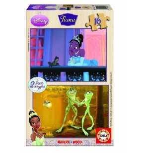 Comprar Puzzle 16 Tiana Madera Princesas