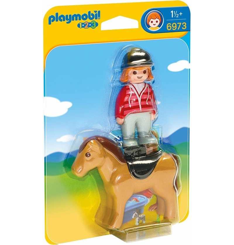 Comprar 1.2.3 Jinete con Caballo Playmobil