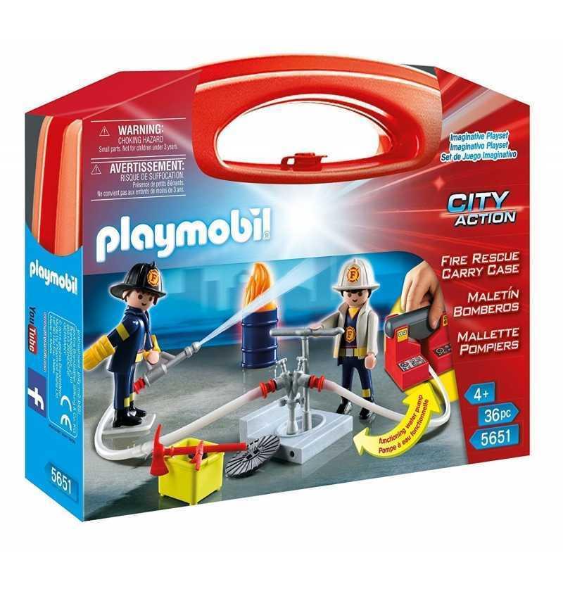 Comprar Maletin Bomberos Playmobil