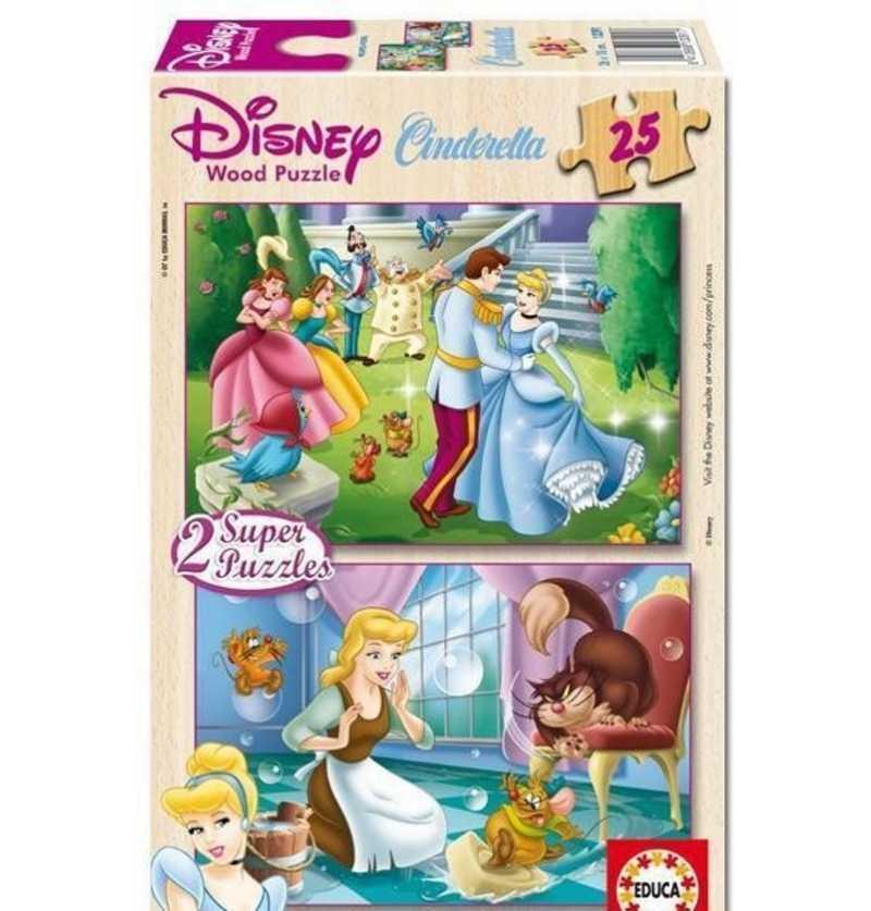 Comprar Puzzle 25 piezas Cenicienta Madera Princesas