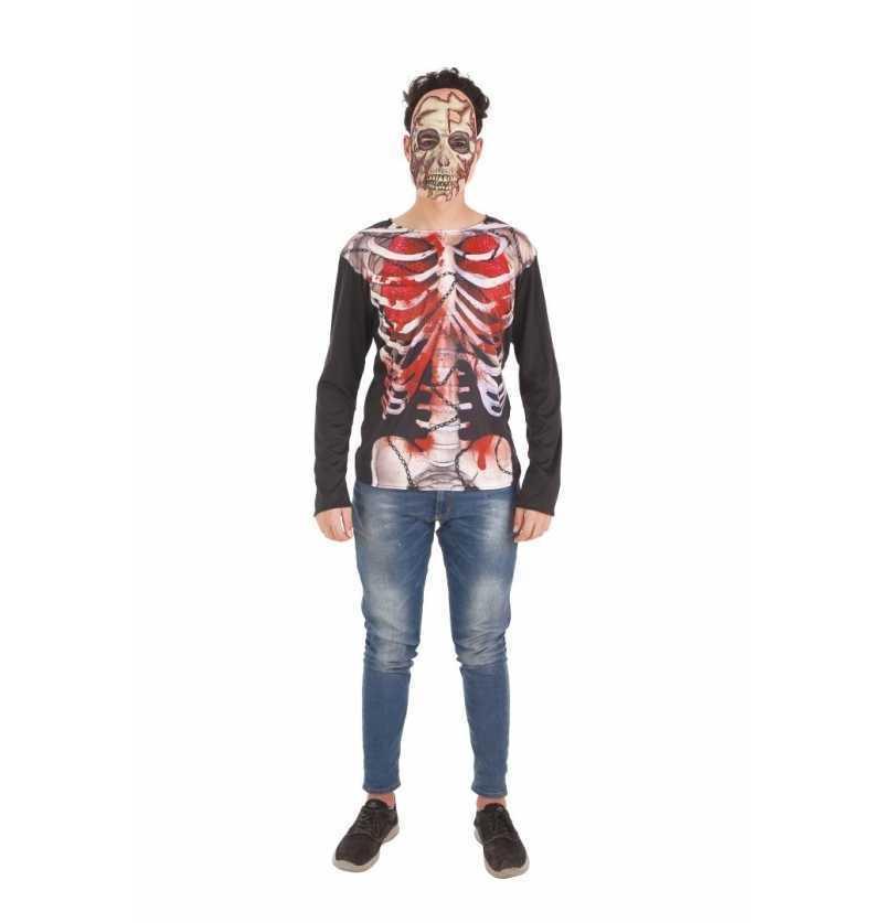 Disfraz de Camiseta Skeleto