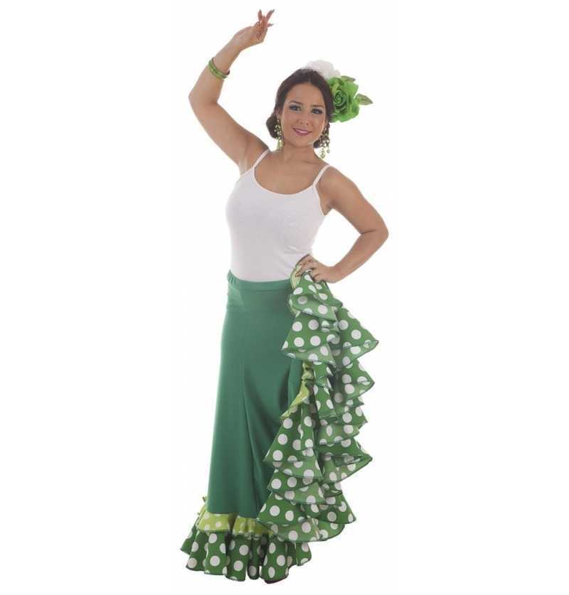 Falda Sevillana Verde Baile
