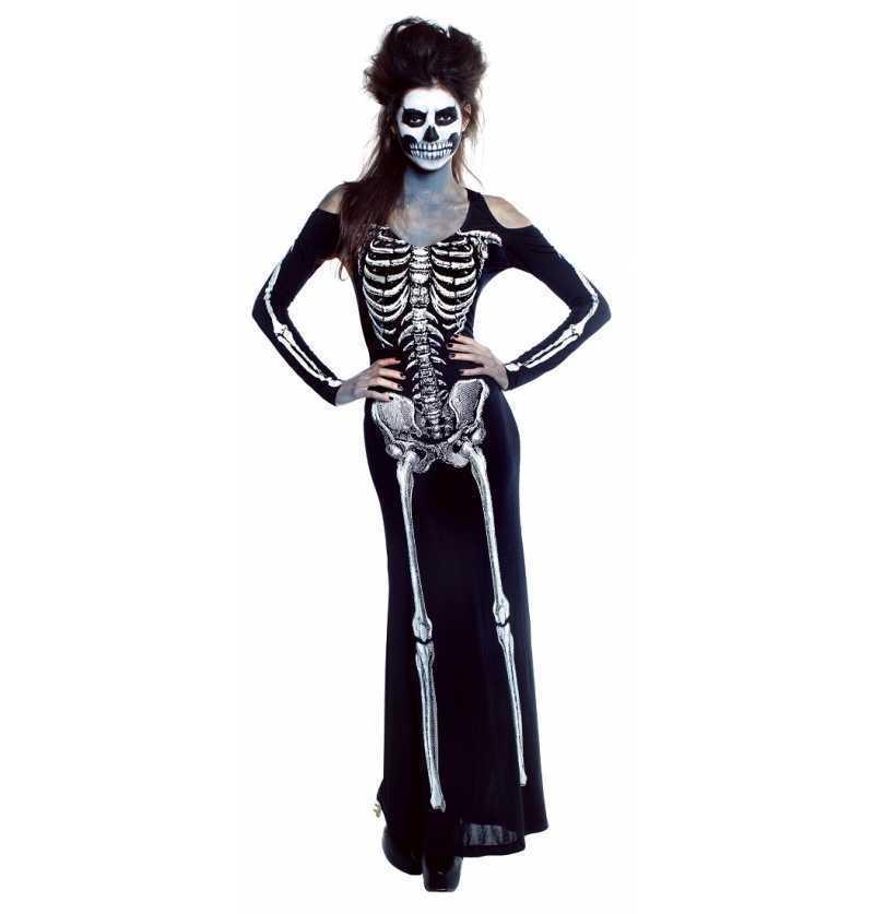 Disfraz de Vestido Skelet Sexy
