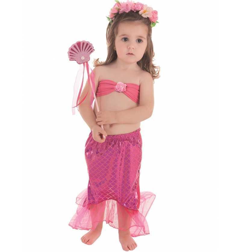 Disfraz de Sirenita Rosa Set