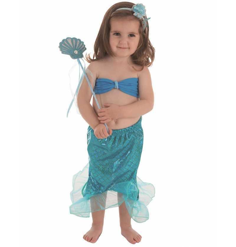 Disfraz de Sirenita Azul Set