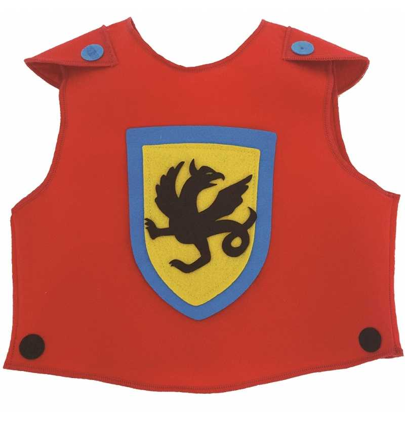 Disfraz de Tunica Dragon Rojo