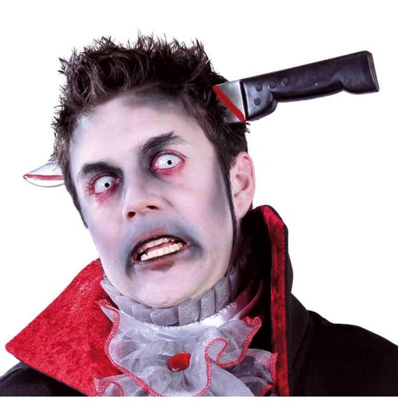 Comprar Cuchillo diadema cabeza Halloween