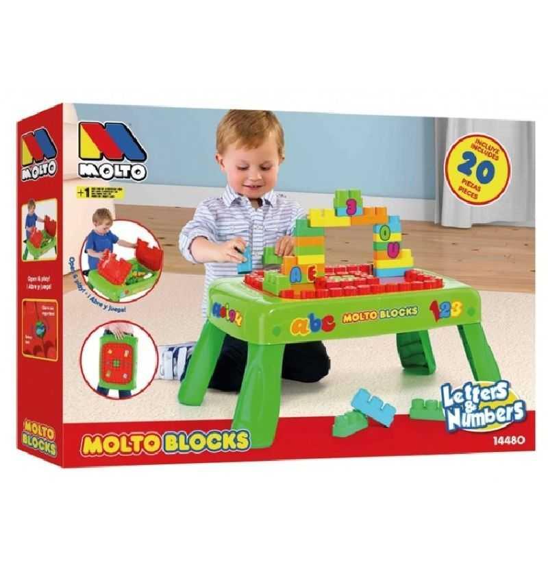 Comprar Mesa bloques 20 piezas Molto