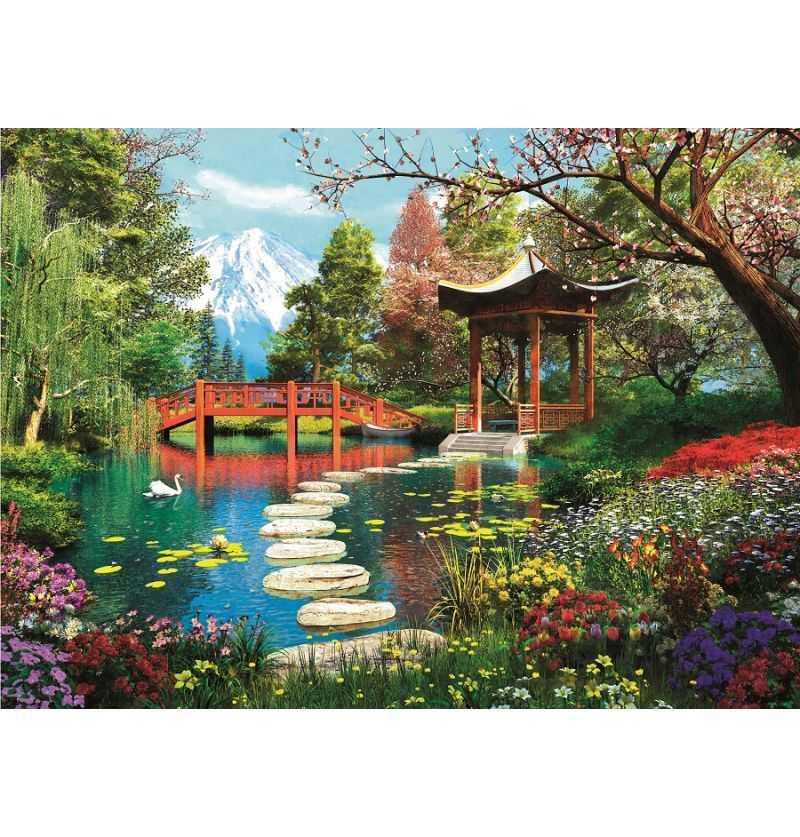 Comprar Puzzle 1000 Piezas Jardin Monte Fuji