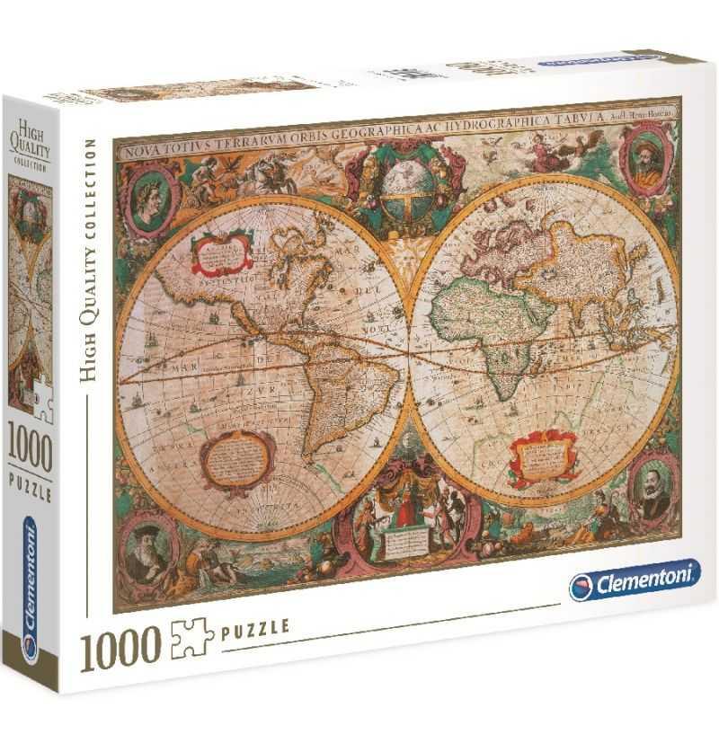 Comprar Puzzle 1000 Piezas Mapa Antiguo Mapamundi
