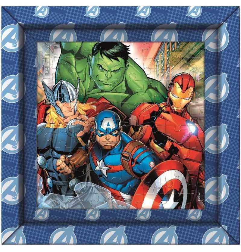 Comprar Puzzle 60 piezas Avengers con Marco Iron Man, Capitán America, Thor y Hulk