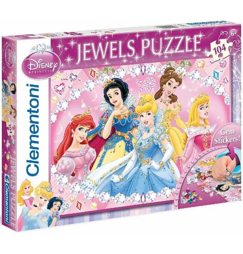 Comprar Puzzle 104 Princesas Disney joyas