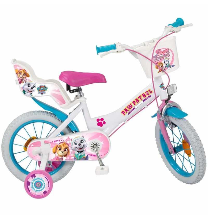 Comprar Bicicleta Infantil Patrulla Canina Skye con ruedines