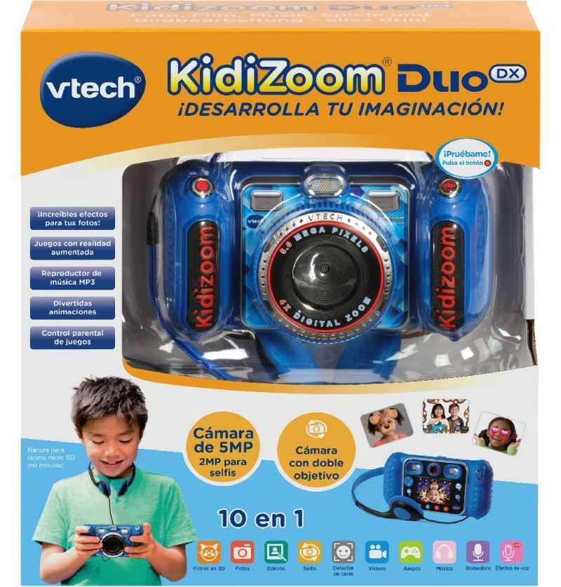 Comprar Camara Fotografica Kidizoom Duo DX 10 en 1 Azul - Vtech