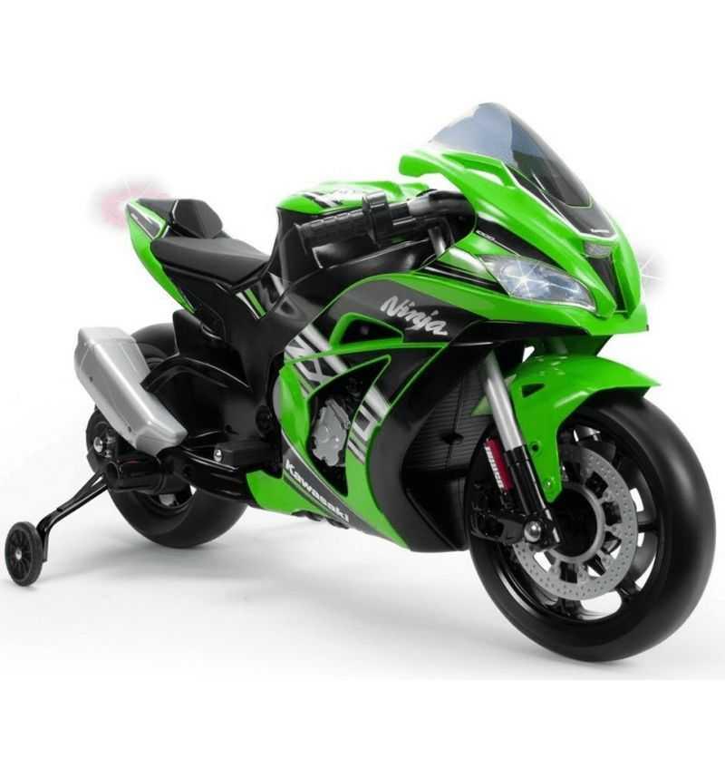 Comprar Moto Infantil Verde Kawasaki Zx10 Bateria 12V