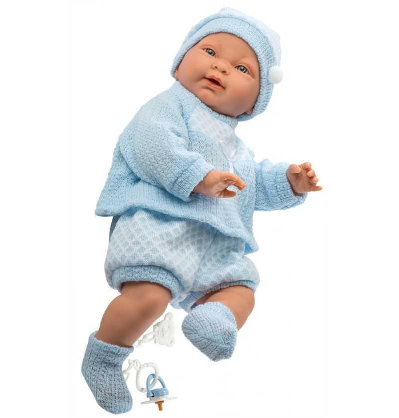 Comprar Muñeco Recien Nacido Hugo Vestido Azul - Muñecas Llorens