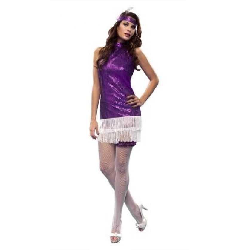 Comprar Disfraz Charleston lila adulto
