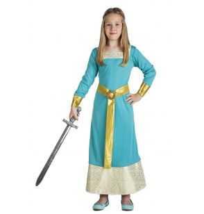 Comprar Disfraz Princesa Medieval Infantil Turquesa