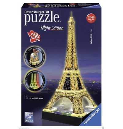 Comprar Puzzle 3d Torre Eiffel de Paris con Luz